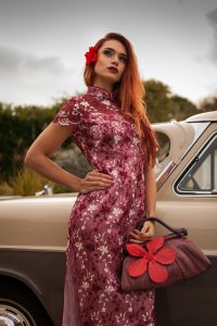'Madam Butterfly' Dress and bag hire for £90 includes uk outbound p&p